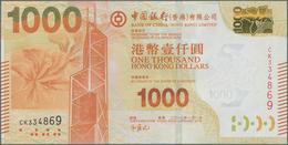 Hong Kong: Bank Of China (Hong Kong) Ltd. 1000 Dollars 2013, P.345c In Perfect UNC Condition. - Hong Kong