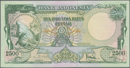 Indonesia / Indonesien: 2500 Rupiah ND(1957), P.54, Very Soft Vertical Bend And Tiny Dint At Upper R - Indonesien