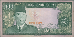Indonesia / Indonesien: Irian Barat (Western New Guinea) 100 Rupiah 1960 (1963), P.R5, Soft Vertical - Indonesien