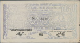 Indonesia / Indonesien: Set With 8 Banknotes Of The Local & Rebellious Issues Of The 1940's With 50 - Indonesien