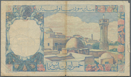 Lebanon / Libanon: Banque De Syrie Et Du Liban 5 Livres 1950, P.49, Still Strong Paper With A Few Fo - Liban