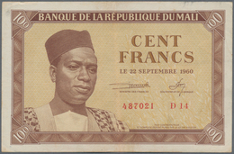 Mali: Very Nice Set With 5 Banknotes Banque De La République Du Mali With 100 And 5000 Francs First - Mali