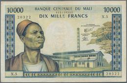 Mali: Banque Centrale Du Mali 10.000 Francs ND(1970-84), P.15f, Still Nice With A Few Folds, Lightly - Mali