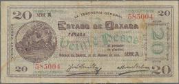 Mexico: Tesorería General Del Estado De Oaxaca 20 Pesos 1915, Series A (not Listed In The Catalog), - Mexico