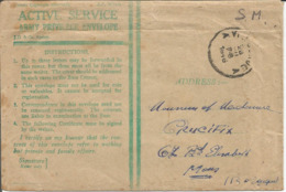 ACTIVE ARMY PRIVILEGE ENVELOPE En Franchise SM 1946 ,1ére Brigade Libération BPS 7 Vers MONS Belgique - Documents