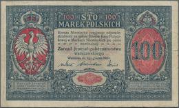 "Poland / Polen: State Loan Bank Of Poland Set With 3 Banknotes With Title ""Zarzad Jeneral Gubernator - Poland"