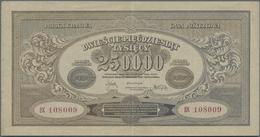 Poland / Polen: Pair With 250.000 Marek 1923 (XF) And 1 Million Marek 1923 (XF), P.35, 37. (2 Pcs.) - Poland