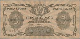 Poland / Polen: 5 Million Marek 1923, P.38 In F+ To VF Condition. - Poland