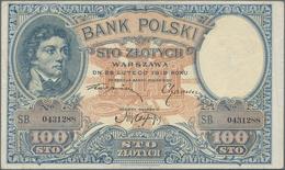 Poland / Polen: Pair With 100 Zlotych 1919 (F+/VF) And 500 Zlotych 1919 (XF+/aUNC), P.57, 58. (2 Pcs - Poland