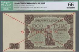 Poland / Polen: 1000 Zlotych 1947 SPECIMEN, P.133s In Perfect Condition, ICG Graded 66 Choice UNC. V - Poland