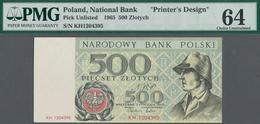 Poland / Polen: Unissued Banknote Essay 500 Zlotych 1965, P.NL, In Perfect UNC Condition, Offset Pri - Poland