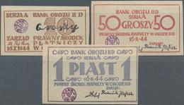 Poland / Polen: POW Camp GROSSBORN Oflag II-D With 10, 50 Groszy And 1 Piast 1944, Campbell 3791-379 - Poland