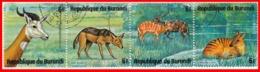 BURUNDI REPUBLICA 4 SELLOS AFRICA CENTRAL AÑO 1978 - Burundi