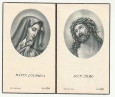 Doodsprentje Elodie MELCKENBEECK Wed. Alfons Van Der Paelt Wanzele 1891 Wetteren 1958 - Images Religieuses