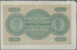Switzerland / Schweiz: Extraordinary Rare Proof Print For The 50 Franken 1907, P.1 With Front And Ba - Suisse