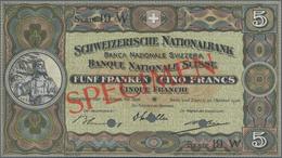 Switzerland / Schweiz: Schweizerische Nationalbank 5 Franken 1936 SPECIMEN, P.11hs With Punch Hole C - Suisse