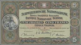 Switzerland / Schweiz: Schweizerische Nationalbank 5 Franken 1947, P.11m In Perfect UNC Condition. - Suisse