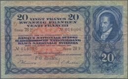 Switzerland / Schweiz: 20 Franken February 22nd 1951, P.39s, Still Nice With Circulation Marks Like - Suisse