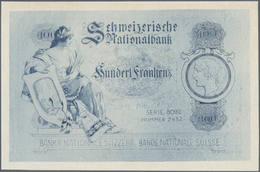 Switzerland / Schweiz: Uniface Offset Printed Design On Normal Paper Of A 100 Franken Note With Seri - Suisse