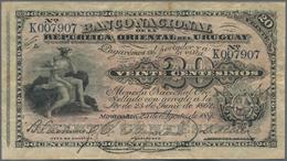Uruguay: El Banco De La Republica Oriental Del Uruguay 20 Centesimos 1887, P.A88a In About F Conditi - Uruguay