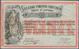 Uruguay: Sociedad Fomento Territorial 20 Pesos 1868, P.S482 In VF+ - Uruguay