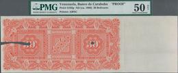 Venezuela: Banco De Carabobo Reverse Proof Of The 30 Bolivares ND(1880), P.S102p With Border Piece A - Venezuela