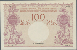 Yugoslavia / Jugoslavien: Kingdom Of Serbs, Croats And Slovenes 400 Kruna On 100 Dinara ND(1919) SPE - Yugoslavia
