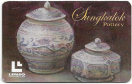 Thailand - LENSO (Chip) - Sungkalok Pottery I - 300฿, Exp. 01.2007, Used - Thailand