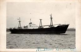 Carte Photo Originale MS Klaus Leonhardt Naviguant - 1962 - Cargo - - Schiffe