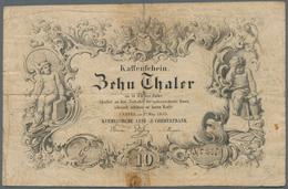 Deutschland - Altdeutsche Staaten: Kurhessische Lei- Und Commerzbank 10 Thaler 1855, PiRi. A144, Kle - [ 1] …-1871 : Etats Allemands