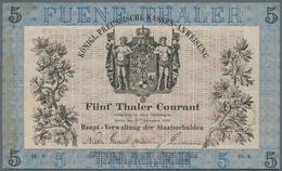 Deutschland - Altdeutsche Staaten: Königl. Preussische Kassen-Anweisung 5 Tahler Courant 1856, PiRi - [ 1] …-1871 : Etats Allemands