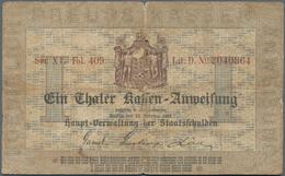 Deutschland - Altdeutsche Staaten: Preußen, Hauptverwaltung Der Staatsschulden, 1 Thaler-Courant 186 - [ 1] …-1871 : Etats Allemands