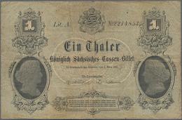 Deutschland - Altdeutsche Staaten: Königlich Sächsisches Cassen-Billet 1 Taler 1867, PiRi A396, Schö - [ 1] …-1871 : Etats Allemands