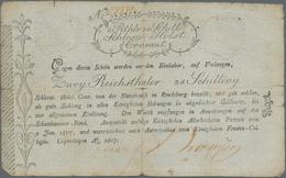 Deutschland - Altdeutsche Staaten: Schleswig-Holstein, Königliches Finanz-Kollegium 2 Reichsthaler 2 - [ 1] …-1871 : Etats Allemands