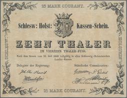 Deutschland - Altdeutsche Staaten: Schlesw.Holst. Kassen-Schein 10 Thaler 1848, PiRi A490, Sehr Saub - [ 1] …-1871 : Etats Allemands