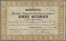 Deutschland - Altdeutsche Staaten: Stadt Kaiserslautern 1, 2 Und 5 Gulden 1870, PiRi A576-A578, Alle - [ 1] …-1871 : Etats Allemands