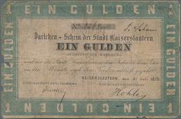 Deutschland - Altdeutsche Staaten: Darlehen-Schein Der Stadt Kaiserslautern 1 Gulden 1870, PiRi A577 - [ 1] …-1871 : Etats Allemands