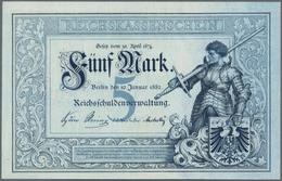 Deutschland - Deutsches Reich Bis 1945: 5 Mark Reichskassenschein 1882, Ro.6, Makellos Kassenfrische - Non Classés