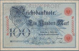 Deutschland - Deutsches Reich Bis 1945: 100 Mark 1896 MUSTER, Ro.15P Mit KN 0000000H Und Perforation - Non Classés