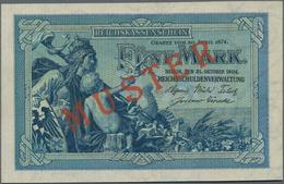 """Deutschland - Deutsches Reich Bis 1945: 5 Mark 1904 MUSTER Mit KN A000000 Und Rotem Überdruck """"Muste - Non Classés"""