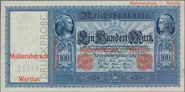 Deutschland - Deutsches Reich Bis 1945: 100 Mark 1910 Einseitige Druckprobe Der Vorderseite Mit Drei - Non Classés