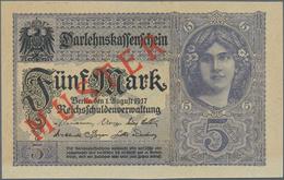 Deutschland - Deutsches Reich Bis 1945: 5 Mark 1917 Muster Aus Laufender Serie Mit KN Z15031727 Und - Non Classés