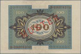 Deutschland - Deutsches Reich Bis 1945: 100 Mark 1920 Muster Aus Laufender Serie S25074274 Und Rotem - Non Classés