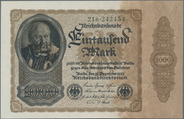 Deutschland - Deutsches Reich Bis 1945: 1000 Mark 1922, Ro.81b, Nicht Verausgabt, In Kassenfrischer - Non Classés