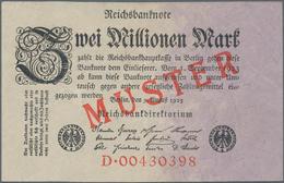 Deutschland - Deutsches Reich Bis 1945: 2 Millionen Mark 1923 Muster Aus Laufender Serie Mit KN D004 - Non Classés