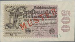 Deutschland - Deutsches Reich Bis 1945: 500 Millionen Mark 1923 Muster Aus Laufender Serie, KN 01427 - Non Classés