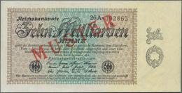 Deutschland - Deutsches Reich Bis 1945: 10 Milliarden Mark 1923 Muster Aus Laufender Serie Mit KN 09 - Non Classés