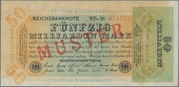 Deutschland - Deutsches Reich Bis 1945: 50 Milliarden Mark 1923 Muster Aus Laufender Serie Mit KN 01 - Non Classés