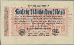 Deutschland - Deutsches Reich Bis 1945: Reichsbanknote Zu 50 Milliarden Mark Vom 25. Oktober 1923, E - Non Classés