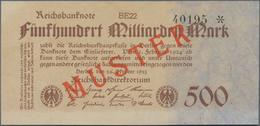 Deutschland - Deutsches Reich Bis 1945: 500 Milliarden Mark 1923 Muster Aus Laufender Serie, Fz. BE, - Non Classés